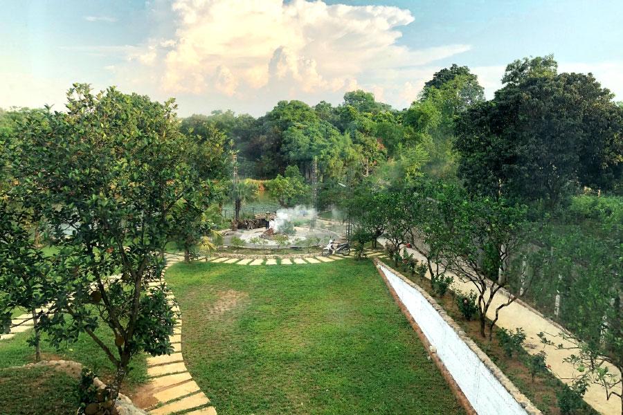 Khu lửa trại được An Garden đầu tư bài bản và công phu