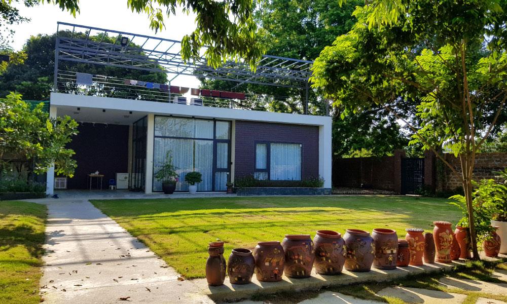 Ngoài khu nghỉ dưỡng sang trọng đằng sau An garden còn có khu nhà nhỏ phù hợp với cặp đôi muốn có không gian riêng biệt