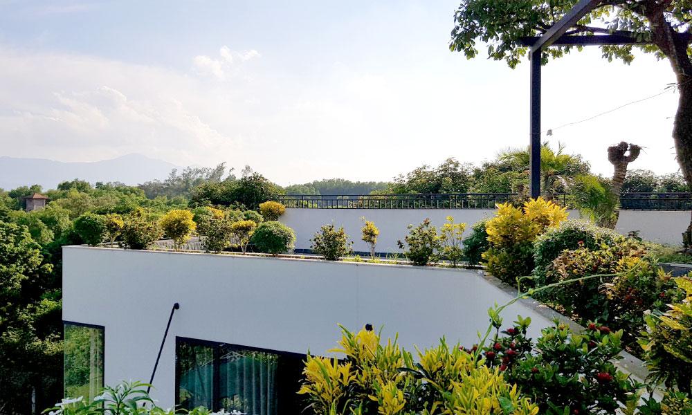 Tầng 2 An garden với nhiều cây xanh và view cực ngầu