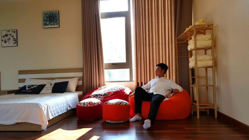 Phòng ngủ thiết kế rất Chill và sang trọng